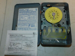 Intermatic T103 Series 40 Amp 120 Volt DPST 24 Hour Mechanical Time Switch