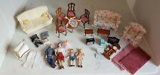 Dolls House Mixed Lot Furniture Figures Accessories TV Computer Sofas Chairs