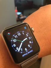 Apple Watch 42mm (2015, Stainless Steel Case, Milanese Loop Band). USED