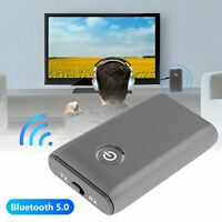 AU_ IC- Bluetooth 5.0 Transmitter Receiver 2 IN 1 Wireless Audio 3.5mm Jack Aux