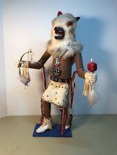 "Vtg Warrior Wolf 15 1/2"" Kachina Doll/Figure~Wonderful~Hopi~Retail $1100"