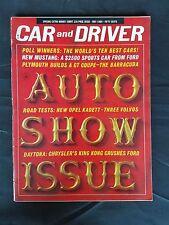 Car & Driver May 1964 - Ford Mustang - Daytona Speed Week - Plymouth Barracuda