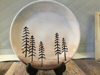 "joyce pottery Plate Tall Pines 7 1/2"" Studio Pacific Northwest deco Or Retro Mid"