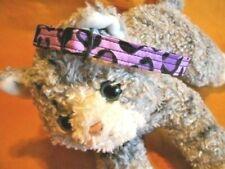 Cat Collar Handmade, Breakaway Buckle - Wild Purple Cheetah Fabric.Snazzy Meow