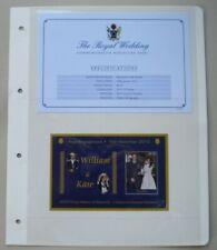 More details for 2011 royal engagement william & kate 16th nov 2010 penrhyn miniature sheet mnh