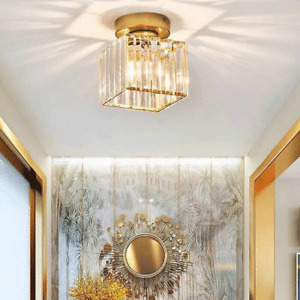 Simple and modern cloakroom aisle lamp balcony lamp home crystal ceiling lamp