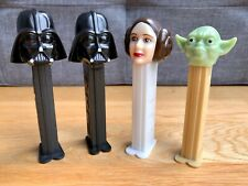More details for 4x star wars pez dispensers princess leia, yoda, darth vader highly collectable