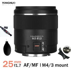 YONGNUO YN25mm F1.7M AF/MF Large Aperture Standard Prime Lens For M43 Panasonic