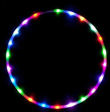 LED Light-Up Hula Hoop Fitness Exercise Toy Summer Fun! Indoor/ Outdoor Gym