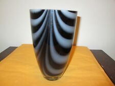 "Decorative Black & Gray Vase 8"" Height and 4.5"" Across Top New No Box"