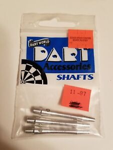 """Dart World Aluminum dart shafts 1.5"""" - 3pk"""