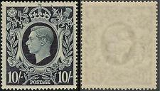GB George VI 1939/78 Sg478 10/- Dark Blue Fine UNMOUNTED MINT