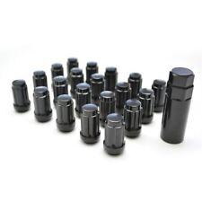 20 X TALL SPLINE CONE SEAT ACORN WHEEL LUG NUTS 12X1.5 BLACK FINISH 35MM TALL
