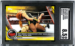 BECKY LYNCH 2020 TOPPS WWE WOMENS DIVISION #37 GOLD SSP SGC 8.5 NM/M+ #4/10