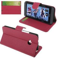 Book Tasche für HTC One M7 Handytasche in pink Etui Hülle Case Cover Schutzhülle