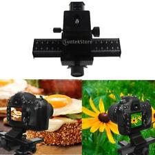 Black 4 Way Macro Focusing Rail Slider Macro Bellows for Nikon EOS Cameras