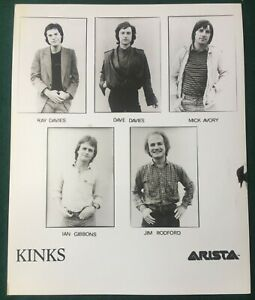 KINKS ~ Original UK Arista 8x10 Promotional Press Publicity Photo