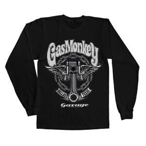 Officially Licensed Gas Monkey Garage Big Piston Long Sleeve T-Shirt S-XXL