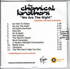 THE CHEMICAL BROTHERS We Are The Night 2007 UK 12-track promo test CD SEALED