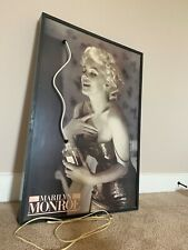 Marilyn Monroe Coco Chanel picture with neon light