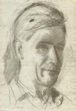 MALE PORTRAIT Pastel Drawing c1950 WALTER SICKERT Pupil FRANK GRIFFITH