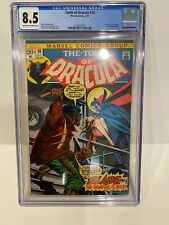Tomb of Dracula #10 CGC 8.5 1973 1st app. Blade the Vampire Slayer OW to White!