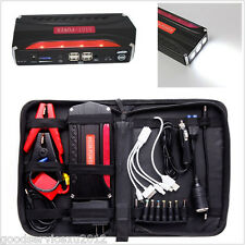 Portable 68800mAh Car Jump Starter Battery Power 4-USB Charger Emergency Lights