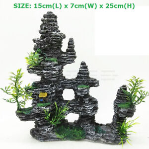 Large Aquarium Rockery Ornament Decorations Mountain View Decor Accessories