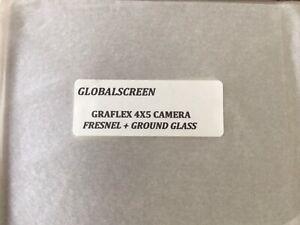 Finest 2 in 1 Graflex Speed/Crown/Super Graphic 4x5 Fresnel Lens+Ground Glass