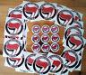 1x Antifa Button + 25 Aufkleber Anti Nazi Punk Ska GNWP RASH ARA AFA Gegen Nazis