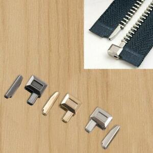 10 PCS Zipper Accessories Metal Zipper Bolt Repair Sewing Tailor Stopper P8N1