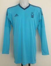 Nottingham Forest L//S bleu ciel sans Parrain Keepers Jersey Par Adidas Taille L