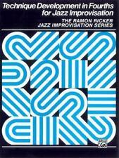 Technique Development in Fourths for Jazz Improvisation [Ramon Ricker Jazz Impro