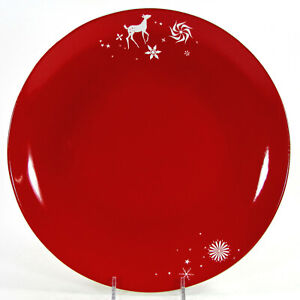"Studio Tord Boontje RATHER RED 11"" Dinner Plate White Reindeer Christmas Target"