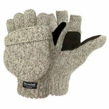 Hot Shot Igloos Men's Warm Sentry Pop Top Fingerless Mittens Oatmeal - One Size