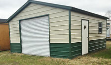 STEEL Garage Workshop Fully Enclosed Metal Building 18x21x8 FREE SETUP DELIVERY