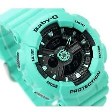 CASIO BABY-G, G-SHOCK MINI, BA111 BA-111-3A, ANALOG DIGITAL, NEON GREEN x BLACK