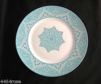 "SET OF (TWO) 222 FIFTH KASHAN SEAFOAM 11"" DINNER PLATES FINE CHINA  BRAND NEW"