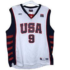 Reebok LeBron James Team USA Reebok Olympic Basketball Jersey Youth Large Unisex