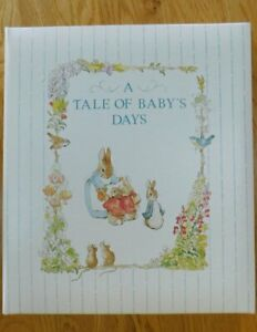 Vintage 1990 Beatrix Potter GIBSON Baby Record Book~Peter Rabbit~NEW in BOX