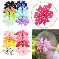 10Pcs Baby Girl Headband Lace Headwear Elastic Hair Band Hairband Headdress New