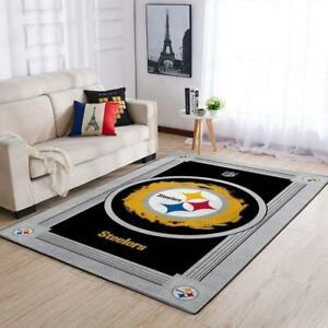Pittsburgh Steelers  Area Rugs Living Room Carpet Floor Decor The US Decor