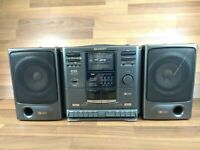 SHARP CD610H (GY) - CD/DOUBLE Cassette TUBER - BOOMBOX INTEGRATED AUDIO SYSTEM