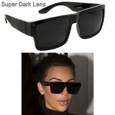 Kardashian Sunglasses Kim Matte Black Fashion Top S Women Square Aviator Dark