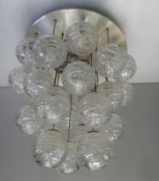 Deckenlampe Hängelampe  Doria Plafoniere Bubble 26 Glaskugeln 50er/60er Jahre