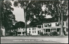 CASCO ME MAINE INN Route 121 Vintage RPPC Old Restaurant Postcard Real Photo