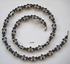 458 - 72 cm lange Kette  - Sodalith und 925 Silber