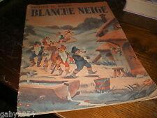 Blanche neige contes de Grimm année 1945 gravures couleurs