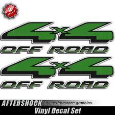 4x4 Green Hulk Truck Decal Set - Off Road Carbon Fiber Sticker for Ford F-150