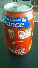 3 CANETTES COCA COLA COUPE DU MONDE 1998 : FRANCE 1/8-1/4- FINALE: NON OUVERTES
